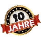 botón del jubileo 10 años stock de ilustración