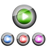 Botón del juego Fotografía de archivo libre de regalías