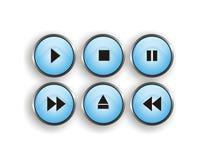 Botón del jugador Fotografía de archivo libre de regalías