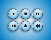 Botón del jugador Imagenes de archivo