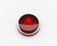 Botón del LANZAMIENTO stock de ilustración