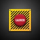 Botón del lanzamiento. ilustración del vector