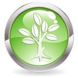 Botón del lustre con el árbol Imagenes de archivo