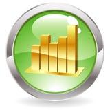 Botón del lustre con el gráfico Imagen de archivo libre de regalías
