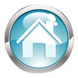 Botón del lustre con el hogar