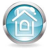 Botón del lustre con el hogar Fotografía de archivo