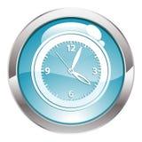 Botón del lustre con el reloj Imagen de archivo libre de regalías
