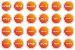 Botón del menú del círculo para la página web o el app stock de ilustración