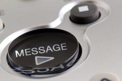 Botón del mensaje del juego Imagen de archivo libre de regalías