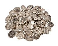 Botón del metal Imagen de archivo libre de regalías