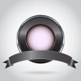 Botón del metal Foto de archivo libre de regalías