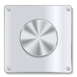 Botón del metal con el proceso circular Imágenes de archivo libres de regalías
