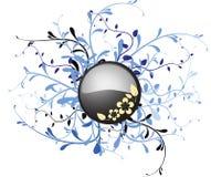 Botón del metal con floral Imágenes de archivo libres de regalías