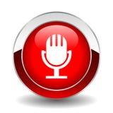 Botón del micrófono ilustración del vector