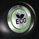 Botón del modo de Eco, ahorro de energía Imágenes de archivo libres de regalías
