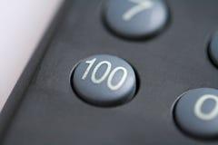 Botón del número ciento Foto de archivo