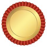 Botón del oro Fotos de archivo
