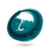 Botón del paraguas ilustración del vector