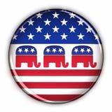 Botón del Partido Republicano stock de ilustración