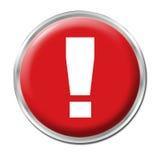 Botón del peligro Imagenes de archivo