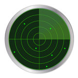 Botón del radar ilustración del vector