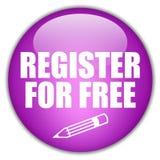 Botón del registro Foto de archivo libre de regalías