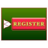 Botón del registro Fotos de archivo libres de regalías