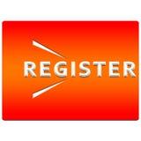Botón del registro Fotografía de archivo libre de regalías
