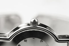 Botón del reloj Imagen de archivo libre de regalías
