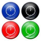 Botón del reloj imagen de archivo