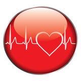 Botón del ritmo cardíaco Imagen de archivo libre de regalías
