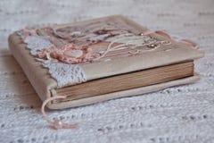 Botón del rosa del cuaderno del vintage Imágenes de archivo libres de regalías