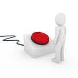 botón del ser humano 3d Foto de archivo libre de regalías
