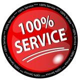 Botón del servicio del 100% Foto de archivo