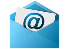 Botón del sobre del email Imagen de archivo libre de regalías