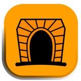 Botón del túnel Imagen de archivo libre de regalías