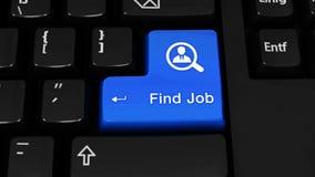 375 Botón del teclado de Job Rotation Motion On Computer del hallazgo almacen de metraje de vídeo