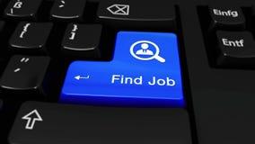 376 Botón del teclado de Job Round Motion On Computer del hallazgo almacen de metraje de vídeo