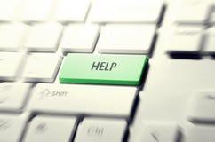 Botón del teclado de la ayuda Imágenes de archivo libres de regalías