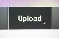 Botón del tecleo de la carga por teletratamiento Foto de archivo libre de regalías