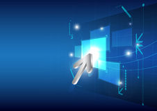 Botón del tecleo del cursor en la pantalla Imagen de archivo libre de regalías