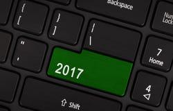Botón del texto 2017 Imagen de archivo