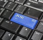 Botón del trabajo. imagen de archivo