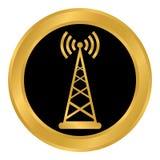Botón del transmisor en blanco Imagen de archivo libre de regalías