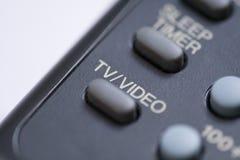 Botón del vídeo de la TV Foto de archivo