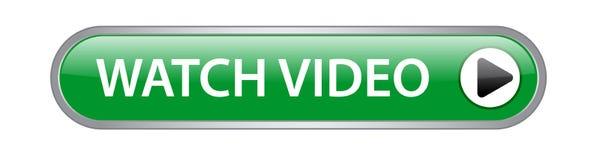 Botón del vídeo del reloj ilustración del vector