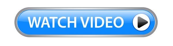 Botón del vídeo del reloj stock de ilustración