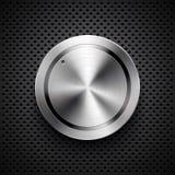 Botón del volumen de la tecnología con textura del metal Fotos de archivo libres de regalías