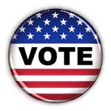 Botón del voto ilustración del vector