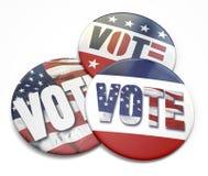Botón del voto Fotografía de archivo libre de regalías